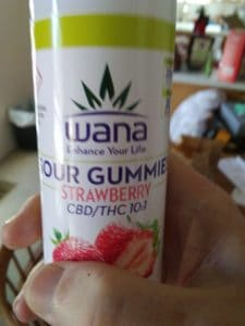 Wana Sour Gummies CBD THC Strawberry | Medical Marijuana Program