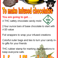 Chocolate candy molds identify THC laced edibles for the home Willy Wonka